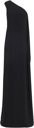 Stella McCartney One-shoulder Bead-embellished Draped Crepe Gown