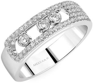 Messika Move Noa Pave Diamond & 18K White Gold Ring