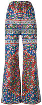 Mes Demoiselles floral print flared trousers - women - Cotton/Viscose - 38