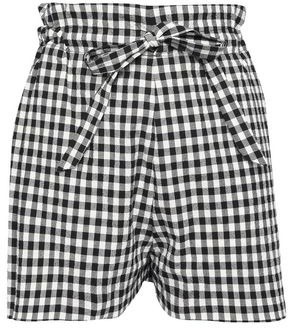Paper London Curacao Gathered Gingham Cotton-blend Seersucker Shorts
