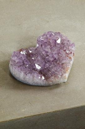 JIA JIA Jumbo Amethyst Geode Heart - Purple