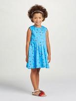 Oscar de la Renta Mini Daisy Toss Cotton Pintuck Dress
