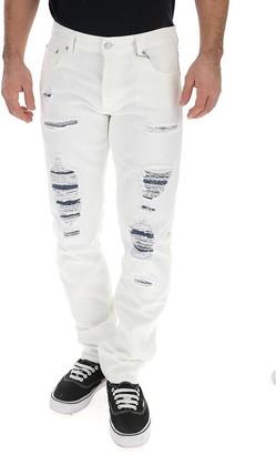 Alexander McQueen Distressed Slim Jeans