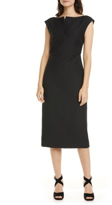 Rachel Comey Leonard Quarter Zip Midi Sheath Dress