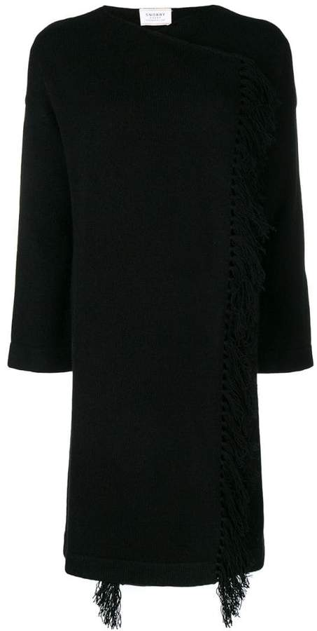 Snobby Sheep fringed knitted long sweater