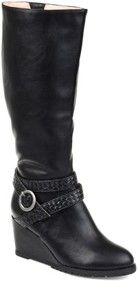 Journee Collection Garin Waterproof Faux Fur Trim Boot - Extra Wide Calf