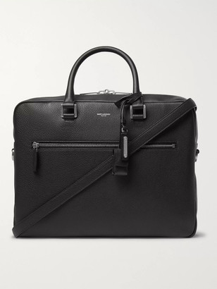 Saint Laurent Full-Grain Leather Briefcase - Men - Black