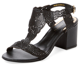 Ava & Aiden Laser-Cut Leather Sandal