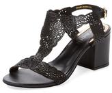 Ava & Aiden Rosia Laser-Cut Leather Sandal