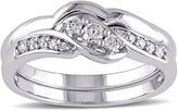 JCPenney MODERN BRIDE 1/4 CT. T.W. Diamond 10K White Gold Bridal Ring Set