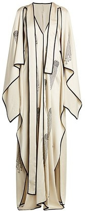 Stella McCartney Pearl Embellished Cape Dress