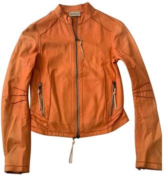 Benedetta Novi Orange Leather Leather Jacket for Women