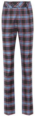 Matthew Adams Dolan Checked wool-blend pants
