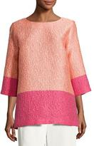 Caroline Rose Colorblock Cloque Tunic, Plus Size