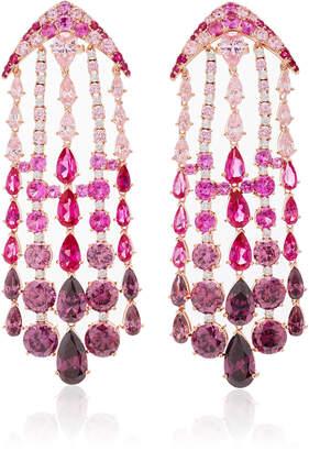 Anabela Chan Fuchsia Ombre Waterfall Earrings