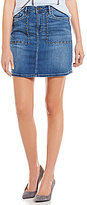 Calvin Klein Jeans Studded Denim Mini A-Line Skirt
