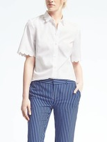 Banana Republic Scallop-Edge Shirt