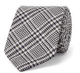 Drake's - 8cm Prince Of Wales Checked Silk Tie