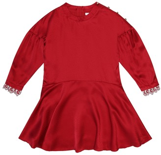 Chloé Kids Silk satin dress