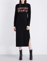McQ by Alexander McQueen Logo-embroidered cotton-jersey midi dress