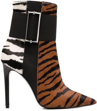 Just Cavalli Animal-Print Stiletto Booties