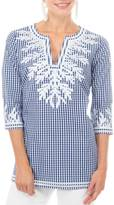 Gretchen Scott Gingham Reef Tunic