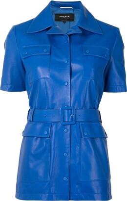 Rochas Short-Sleeved Leather Jacket