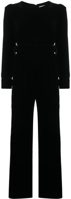 Goat King belted velvet jumpsuit