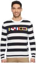 Nautica 9 Guage Signal Flag Intarsia Men's Sweater