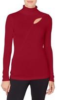 Catherine Malandrino Women's Dessie Cutout Turtleneck Sweater
