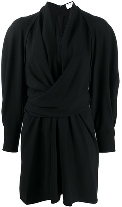 IRO Draped Wrap-Front Mini Dress