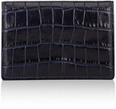 Smythson Men's Mara Card Case-NAVY