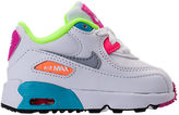 Nike Girls' Toddler Air Max 90 Leather Running Shoes