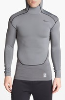 Nike 'Pro Combat - Hyperwarm Dri-FIT Max' Hooded Compression Top
