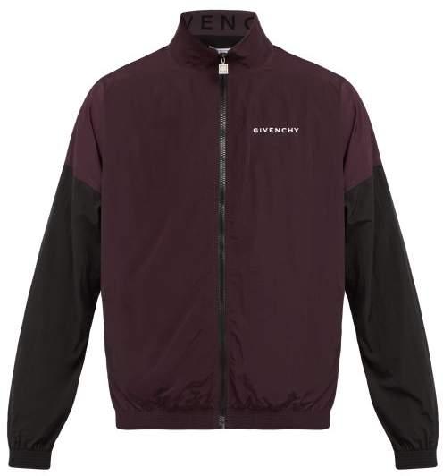 Givenchy Two Tone Windbreaker Jacket - Mens - Dark Purple