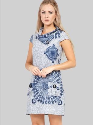 M&Co Izabel eastern print knitted dress