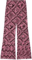 Gucci Romain print silk pant