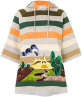 Marc Jacobs embroidered striped sweatshirt - women - Silk/Cotton/Lurex/Tencel - XS