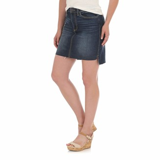 Wrangler Women's Retro Mae Mid Rise Stretch Jean Skirt