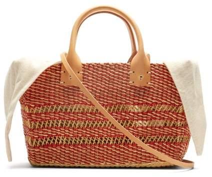 Muun Carrie Woven Straw Basket Bag - Womens - Cream Multi