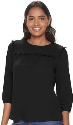 Juicy Couture Women's Peasant Sleeve Blouse