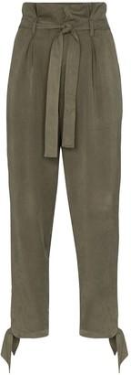 Reformation Avalon tie-waist trousers