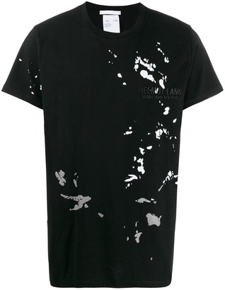 Helmut Lang paint splatter T-shirt