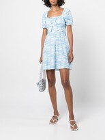 Thumbnail for your product : HVN mini Holland cloud-print dress