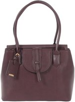 Hilary Radley Women's Faux Leather Large Satchel with Double Zip Top
