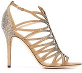 Jimmy Choo 'Kaye 100' sandals - women - Leather/Crystal - 38