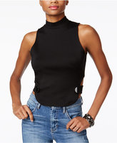 GUESS Jera Mock-Neck Cutout Crop Top