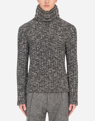 Dolce & Gabbana Wool Cable-Knit Turtle-Neck Sweater