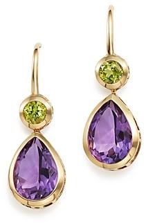 Bloomingdale's Amethyst and Peridot Drop Earrings in 14K Yellow Gold - 100% Exclusive