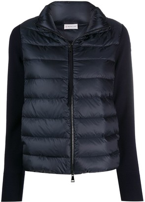 Moncler Knitted Sleeves Padded Jacket